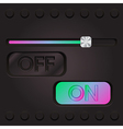 technology web interface with colored slifer vector image