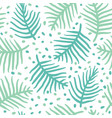 tropical blue palm or ferm leaves seamless vector image