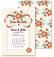 vintage wedding invitations with flowers Vintage vector image