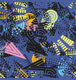 abstract modern seamless pattern with various geom vector image