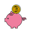 nice pig to save coin currency broken vector image