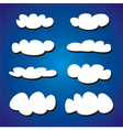White clouds on blue sky background set vector image vector image