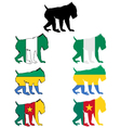 Mandrill flags vector image