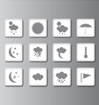 weather icon set 2 vector image vector image