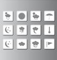 weather icon set 2 vector image