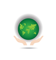 Green Earth Globe vector image
