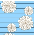 Camomile Seamless Pattern 2 vector image