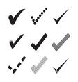 Confirm check marks icons3 vector image