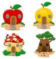 Fantasy house cartoon collection vector image