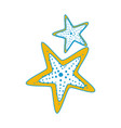 isolated two starfish vector image