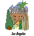 Los Angeles California vector image