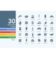 Set of fast food icons vector image