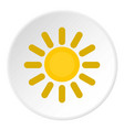 sun icon circle vector image