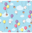 seamless birthday pattern vector image