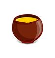 Pot full of honey vector image vector image