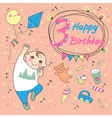 Birthday of the little boy 3 years vector image vector image