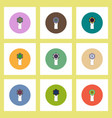 flat icons set of certificatev concept on colorful vector image
