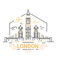 london - modern line travel vector image