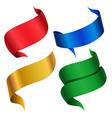 ribbon color vector image vector image
