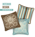 Set of decorative pillows vector image vector image