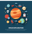 Space theme banners and cards vector image
