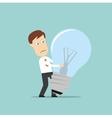 Businessman failed idea light bulb vector image