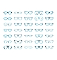 Glasses isolated on white background vector image