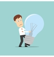 Businessman failed idea light bulb vector image