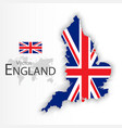 england flag and map vector image