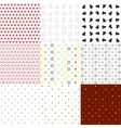 Set of seamless textures various types vector image