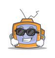super cool tv character cartoon object vector image