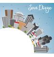 san diego skyline with gray buildings blue sky vector image
