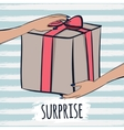 Box with gifts and surprises for the greetings vector image
