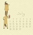 Basic Calendar for july 2014 vector image