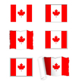 Canada flag set vector image