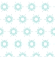 floral snowflake pattern vector image