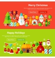 Merry Christmas Website Banners vector image