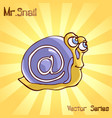 mr snail with mail vector image