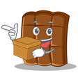 with box chocolate character cartoon style vector image