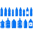 set of isolated water bottle icon vector image