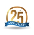 25 years anniversary experience gold label vector image
