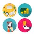 Money Team Work Idea OnlineShopping Flat Design vector image