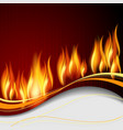 Background with flames vector image
