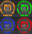kitchen stove icon Fashionable modern style In the vector image