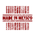 made in mexico print icon vector image