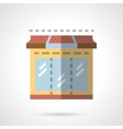 Storefronts flat color icon Showcase vector image