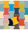 Abstract Colorful Retro Lock Pavement vector image
