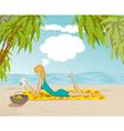 Beach Woman vector image