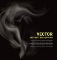 realistic of smoke on black vector image
