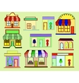Store buildings vector image